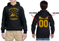Customize - New Hufflepuff CHASER Quidditch Yellow Team Kid / Youth Hoodie Black