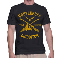 Customize - New Hufflepuff KEEPER Quidditch Team Men T-shirt tee