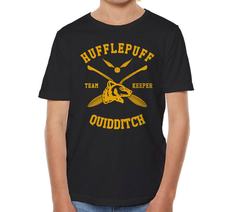 Hufflepuff KEEPER Quidditch Team Kid / Youth T-shirt tee PA New