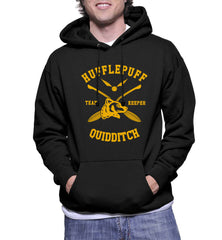 Customize - New Hufflepuff KEEPER Quidditch Team Unisex Pullover Hoodie Black