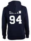 Irwin 94 White Ink on BACK Ashton Irwin Unisex Pullover Hoodie - Meh. Geek