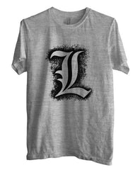 L Death Note Brush Ryuk Light Shinigami Unisex Men T-shirt - Meh. Geek