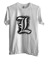 L Death Note Brush Ryuk Light Shinigami Men T-shirt