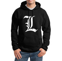 L Death Note Ryuk Light Shinigami Unisex Pullover Hoodie - Meh. Geek