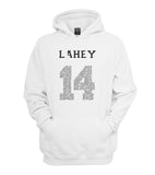 Lahey 14 Quote Black Ink on FRONT Beacon hills lacrosse Unisex Pullover Hoodie - Meh. Geek