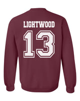 Lightwood 13 Idris University Unisex Crewneck Sweatshirt Maroon Adult