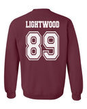 Lightwood 89 Idris University Unisex Crewneck Sweatshirt Maroon Adult
