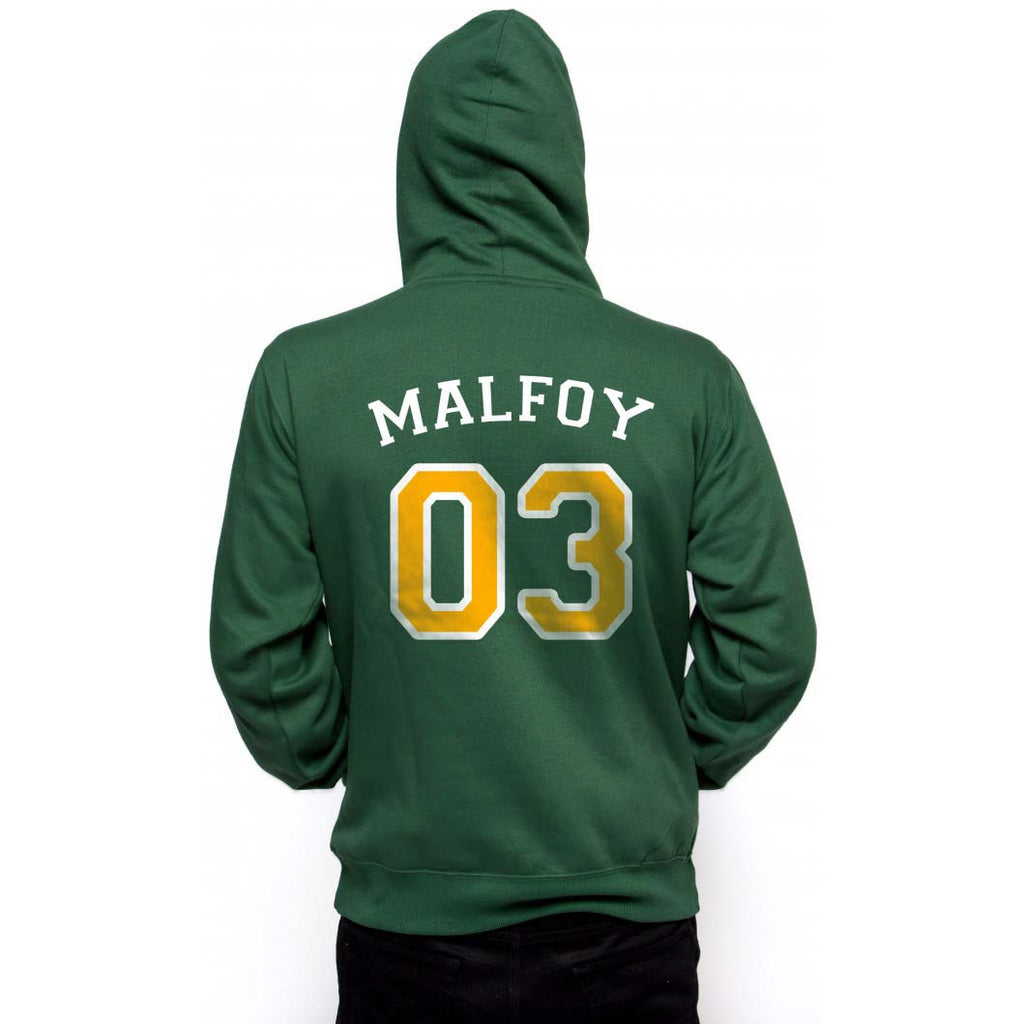Malfoy 03 With Yellow Ink on Back Harry Potter Unisex Pullover Hoodie - Meh. Geek