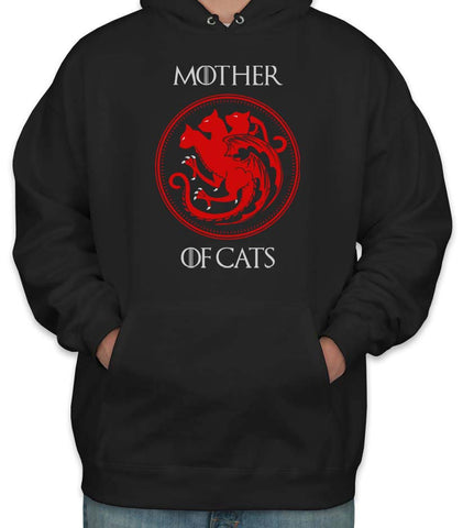 Mother Of Cats Sigil with font Unisex Pullover Hoodie