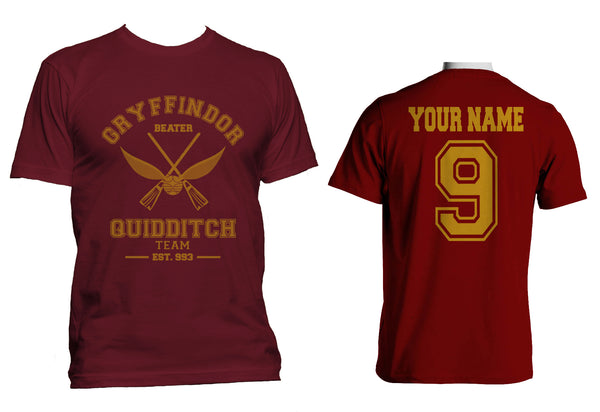 Customize - Old Gryffindor BEATER Quidditch Team Men T-shirt tee