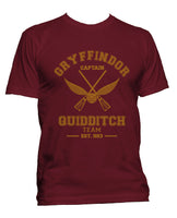 Gryffindor CAPTAIN Quidditch Team Men T-shirt PA old