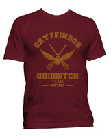 Customize - Old Gryffindor PLAIN (No Position) Quidditch Team Men T-shirt tee