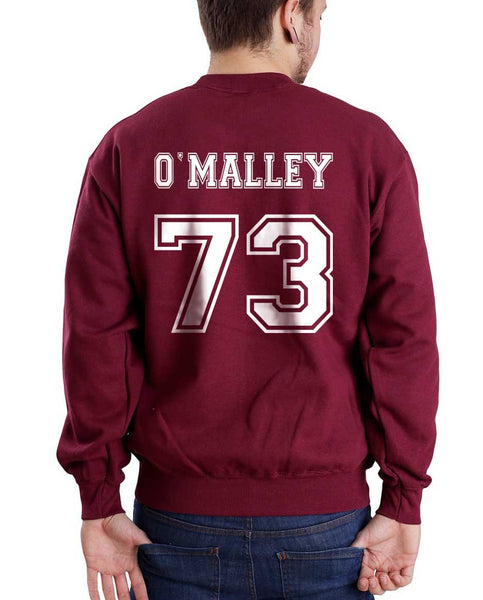 O`Malley 73 White Ink on Back Greys Anatomy Unisex Crewneck Sweatshirt - Meh. Geek
