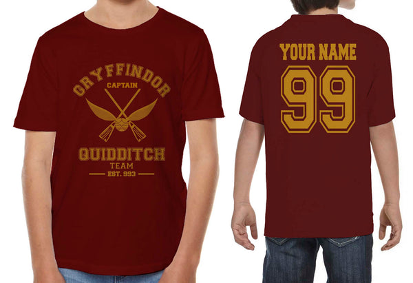 Customize - OLD Gryffindor CAPTAIN Quidditch Team Kid / Youth T-shirt tee