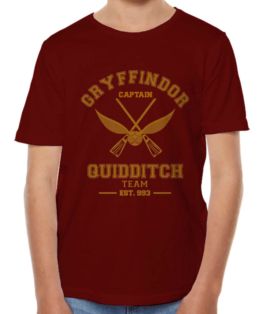 Gryffindor CAPTAIN Quidditch Team Kid / Youth T-shirt tee PA Old