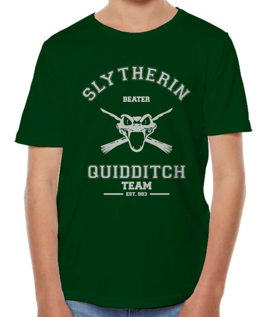 Slytherin BEATER Quidditch Team Kid / Youth T-shirt tee Forest PA Old