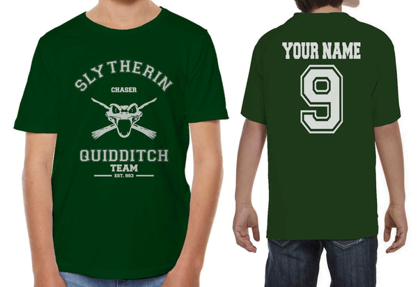Customize - OLD Slytherin CHASER Quidditch Team Kid / Youth T-shirt tee