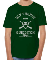 Original Slytherin KEEPER Quidditch Team Kid / Youth T-shirt tee Forest PA Old