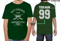 Customize - OLD Slytherin CAPTAIN Quidditch Team Kid / Youth T-shirt tee