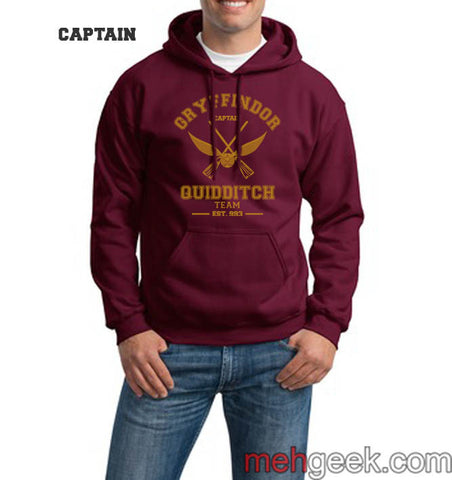 0faa70a1794 Gryffindor CAPTAIN Quidditch Team Unisex Pullover Hoodie PA old