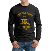Hufflepuff KEEPER Quidditch Team Long Sleeve T-shirt for Men PA old