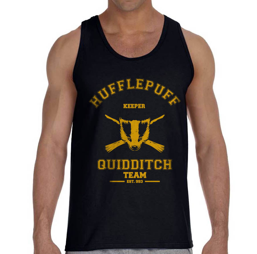 Hufflepuff KEEPER Quidditch Team Men Tank Top PA Old