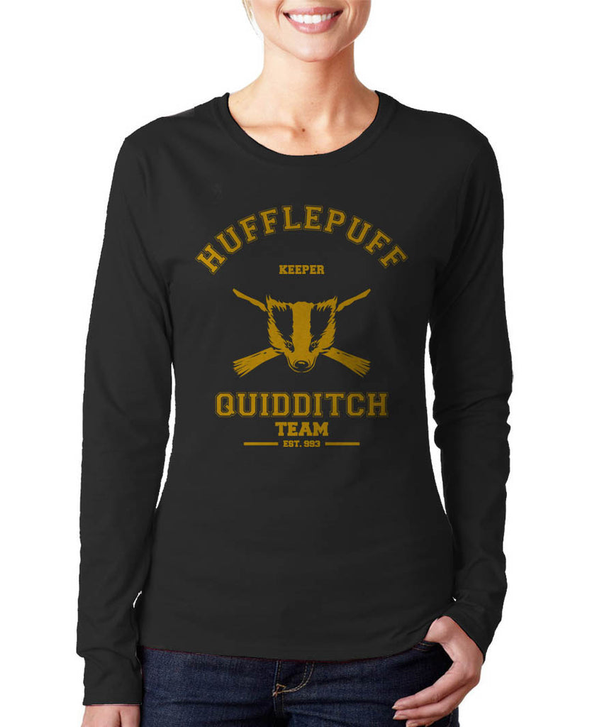 Hufflepuff KEEPER Quidditch Team Long sleeve T-shirt for Women PA old