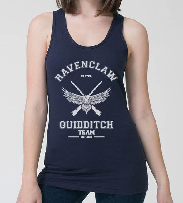 Ravenclaw WHITE Ink BEATER Quidditch Team Women Tank top PA old