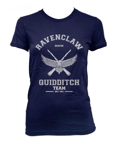 Ravenclaw White Ink BEATER Quidditch team Women T-shirt Tee PA old