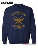 PA Ravenclaw CAPTAIN Quidditch Team Unisex Crewneck Sweatshirt - Meh. Geek