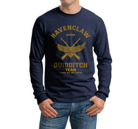 Ravenclaw CAPTAIN Yellow Ink Quidditch Team Long Sleeve T-shirt for Men PA old