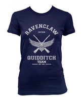 Ravenclaw White Ink CAPTAIN Quidditch team Women T-shirt Tee PA old