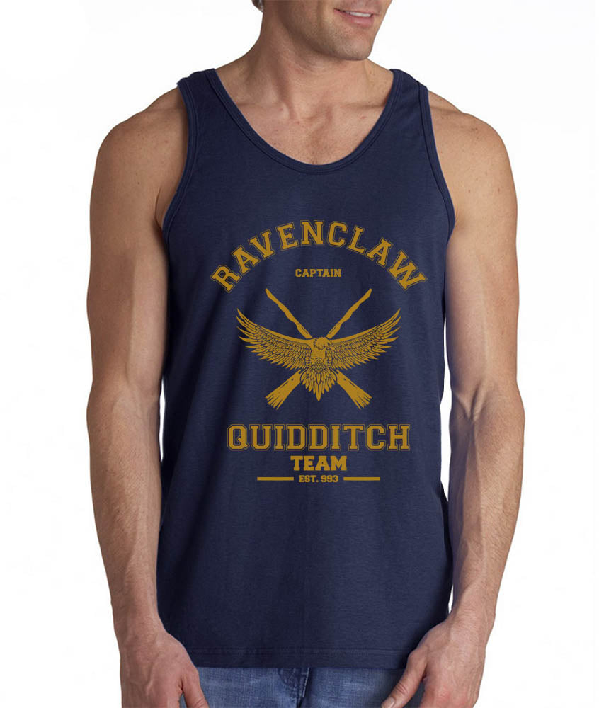 Ravenclaw YELLOW Ink CAPTAIN Quidditch Team Men Tank Top PA Old