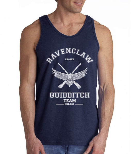 Ravenclaw WHITE Ink CHASER Quidditch Team Men Tank Top PA Old