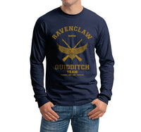Ravenclaw KEEPER Yellow Ink Quidditch Team Long Sleeve T-shirt for Men PA old