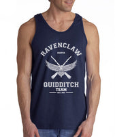 Ravenclaw WHITE Ink KEEPER Quidditch Team Men Tank Top PA Old