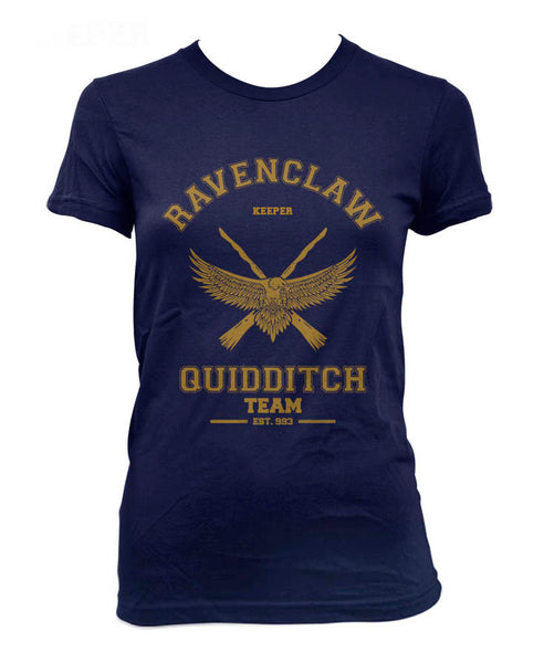 Ravenclaw YELLOW Ink KEEPER Quidditch team Women T-shirt PA old