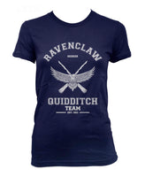 Ravenclaw White Ink SEEKER Quidditch team Women T-shirt Tee PA old