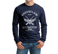 Ravenclaw CAPTAIN White Ink Quidditch Team Long Sleeve T-shirt for Men PA old