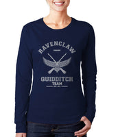 Ravenclaw White Ink CHASER Quidditch Team Long sleeve T-shirt for Women PA old