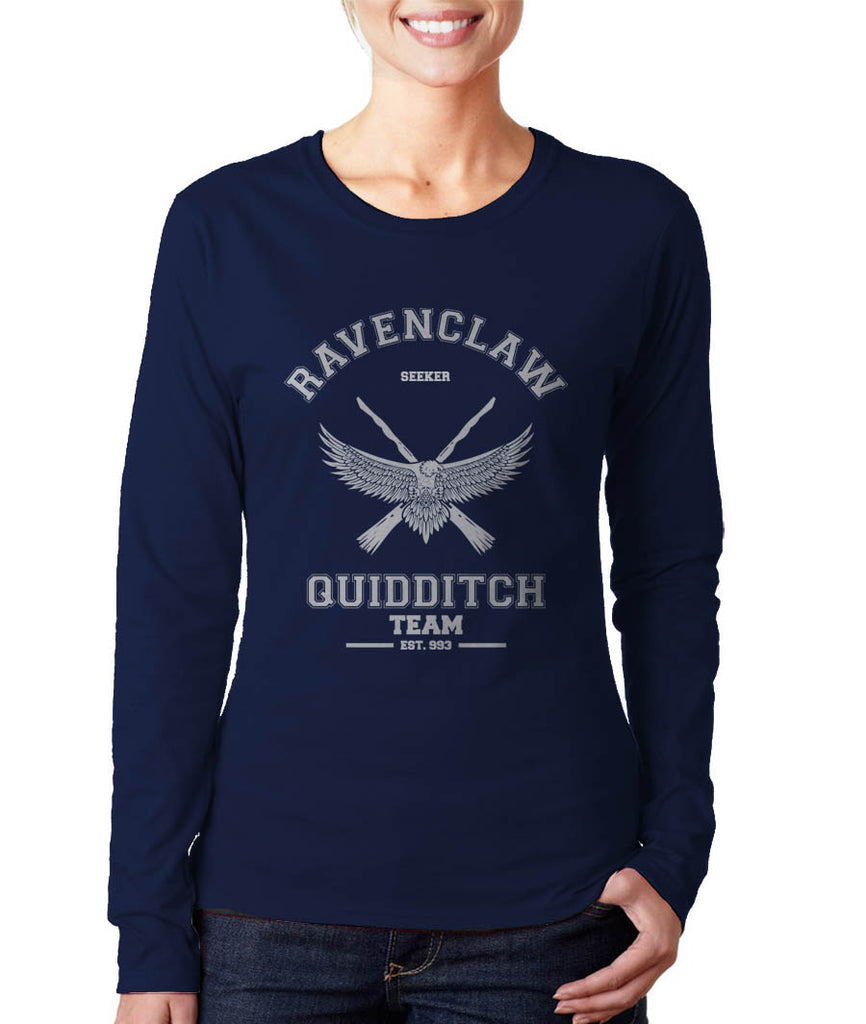 Ravenclaw White Ink SEEKER Quidditch Team Long sleeve T-shirt for Women PA old
