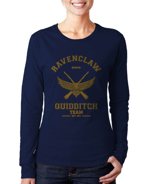 Ravenclaw Yellow Ink KEEPER Quidditch Team Long sleeve T-shirt for Women PA old