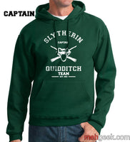 PA Slytherin CAPTAIN Quidditch Team Unisex Pullover Hoodie - Meh. Geek