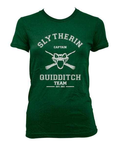 Slytherin CAPTAIN Quidditch team Women T-shirt PA old