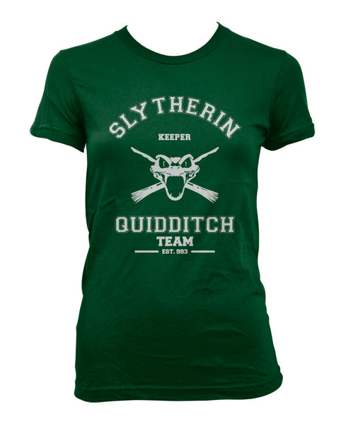 Slytherin KEEPER Quidditch team Women T-shirt PA old