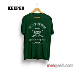 PA Slytherin KEEPER Quidditch Team Unisex Men T-shirt - Meh. Geek