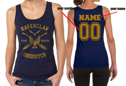 Customize - New Ravenclaw BEATER Quidditch Team Yellow ink Women Tank top