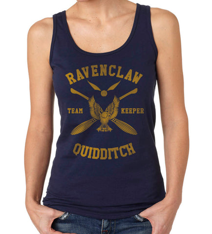 Ravenclaw KEEPER Quidditch Team Yellow ink Women Tank top PA New