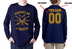 Customize - New Ravenclaw KEEPER Quidditch Team Yellow Kid / Youth Long Sleeves T-shirt tee