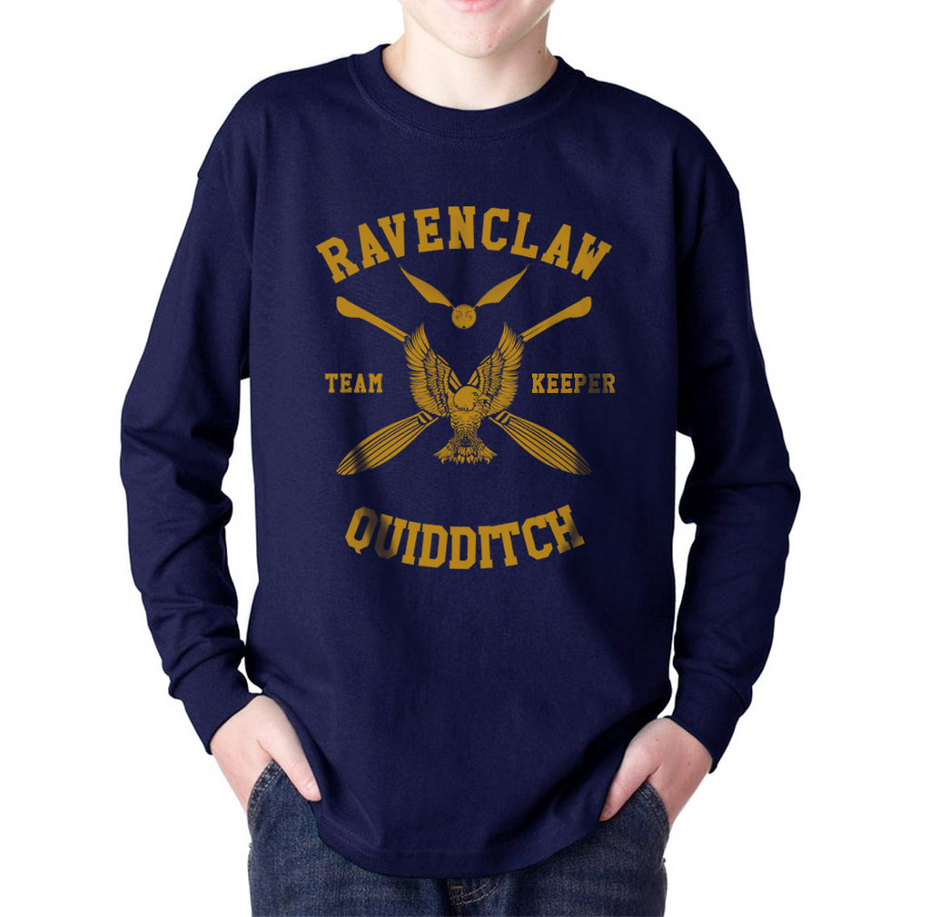 Ravenclaw KEEPER Quidditch Team Yellow Kid / Youth Long Sleeves T-shirt tee PA New